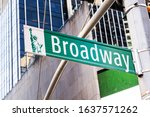 A Broadway Street Plaque With...