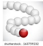 curve sphere line with one red... | Shutterstock . vector #163759232