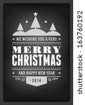 christmas postcard ornament... | Shutterstock .eps vector #163760192