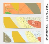 minimal abstract vector banner... | Shutterstock .eps vector #1637621452