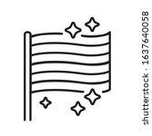 lgbt pride flag black line icon....