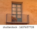 Balcony Of An Old House  With A ...
