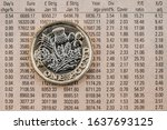 Uk Pound Coin Against A...