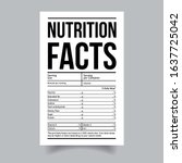 nutrition facts food label... | Shutterstock .eps vector #1637725042