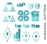 illustration set business icons ... | Shutterstock .eps vector #163775636