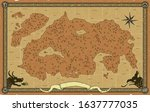large vector fantasy map with...   Shutterstock .eps vector #1637777035