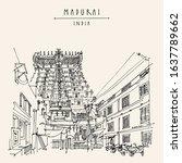 madurai  tamil nadu  south... | Shutterstock .eps vector #1637789662