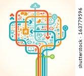 social network tree | Shutterstock .eps vector #163779596