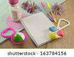 Baby Diary With Playthings And...