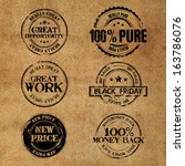black friday stamps | Shutterstock . vector #163786076