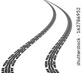 tire prints  vector illustration | Shutterstock .eps vector #163786952