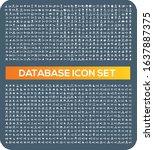 database and network vector...   Shutterstock .eps vector #1637887375