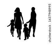 parents mother and father with... | Shutterstock .eps vector #1637948995
