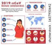 novel coronavirus  2019 ncov ... | Shutterstock .eps vector #1637950642