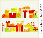 gift boxes vector illustration | Shutterstock .eps vector #163795316