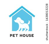 pet house logo design   dog and ... | Shutterstock .eps vector #1638013228