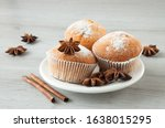 Tasty Muffins On A Plate Ready...