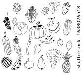 vegetables isolated on white... | Shutterstock .eps vector #1638026518