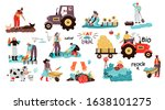 set of local organic production.... | Shutterstock .eps vector #1638101275