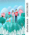 illustration of a family and... | Shutterstock .eps vector #1638113635