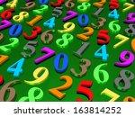 digital background.  from zero... | Shutterstock . vector #163814252
