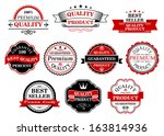 retro labels and banners set... | Shutterstock .eps vector #163814936