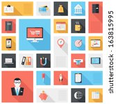 vector collection of modern ... | Shutterstock .eps vector #163815995