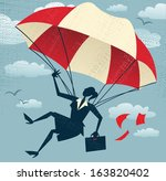 abstract businesswoman uses her ... | Shutterstock . vector #163820402