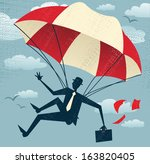 abstract businessman uses his... | Shutterstock . vector #163820405