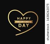 happy valentine's day message... | Shutterstock .eps vector #1638262075