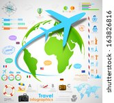 illustration of travel... | Shutterstock .eps vector #163826816