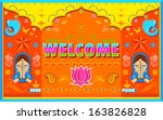 illustration of welcome... | Shutterstock .eps vector #163826828