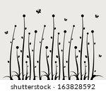 swirl floral wall sticker... | Shutterstock .eps vector #163828592