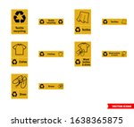 Textile Recycling Signs Icon...