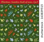 vector christmas seamless... | Shutterstock .eps vector #163839515