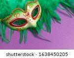 Festive  Colorful Masks Of...