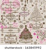 christmas greeting | Shutterstock .eps vector #163845992