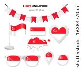 singapore symbols attributes.... | Shutterstock .eps vector #1638477055