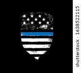 blue line symbol. shield icon... | Shutterstock .eps vector #1638522115
