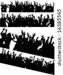 various audience silhouette | Shutterstock .eps vector #16385545