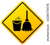 cleaning in progress warning... | Shutterstock .eps vector #1638570478