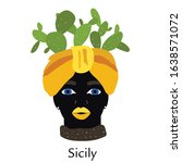 Traditional Sicilian Vase With...