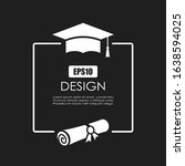 graduation ceremony invitation...   Shutterstock .eps vector #1638594025