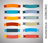 labels  tags  ribbons set in... | Shutterstock .eps vector #163861862