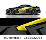 sports car wrapping decal design | Shutterstock .eps vector #1638632095