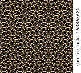 vintage gold lace  vector... | Shutterstock .eps vector #163863635