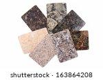 granite kitchen worktop samples ... | Shutterstock . vector #163864208
