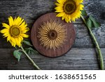 String Art Sunflower With Real...