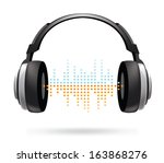 music streaming icon | Shutterstock .eps vector #163868276