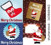 abstract merry christmas... | Shutterstock .eps vector #163868462
